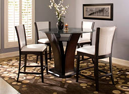 "Venice 5-pc. 54"" Glass Counter-Height Dining Set"