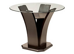 "Venice 48"" Glass Counter-Height Dining Table"