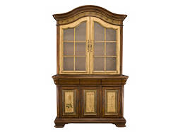 Vineyard 2-pc. China Cabinet w/ Lighting and Wine Storage
