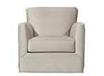 Carlin Microfiber Swivel Accent Chair