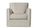 Carlin Microfiber Swivel Accent Chair