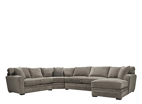 Artemis Ii 4 Pc Microfiber Sectional Sofa W Full Sleeper