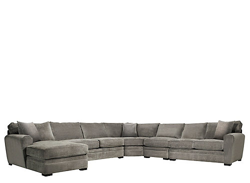 Artemis Ii 5 Pc Microfiber Sectional Sofa Sectional