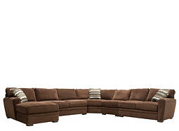 Sectional Sofas Modular Sofa Leather Microfiber & Chenille Sectionals