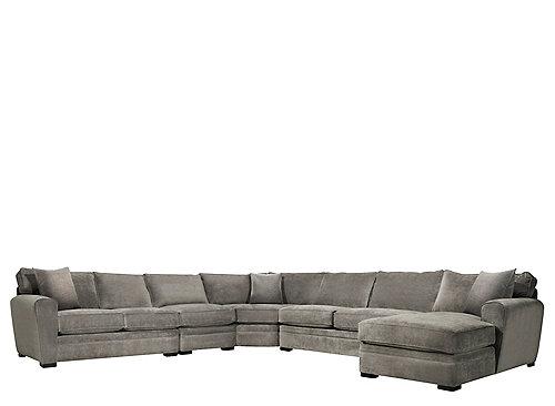 Artemis ii 5 pc microfiber sectional sofa sectional for 5 pc microfiber sectional sofa