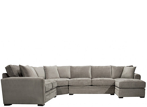 artemis ii 4 pc microfiber sectional sofa sectional
