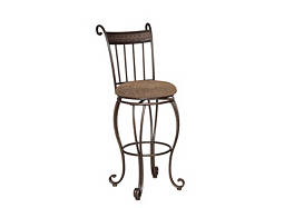Beau Chenille Swivel Bar Stool