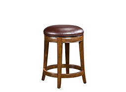 Trevor Bonded-Leather Swivel Counter Stool