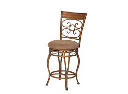 Ellen Chenille Swivel Counter Stool