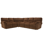 Rex 4-pc. Microfiber Reclining Sectional Sofa