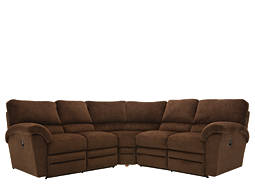 Rex 3-pc. Microfiber Reclining Sectional Sofa
