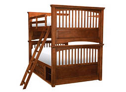 American Spirit Full-Over-Full Storage Bunk Bed