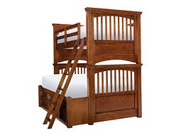 American Spirit Twin-Over-Full Storage Bunk Bed