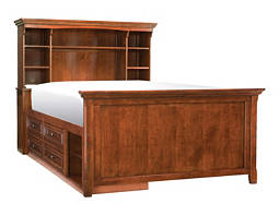American Spirit Full Storage Bookcase Bed
