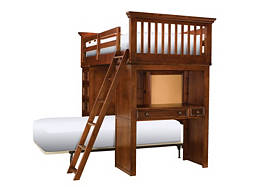 American Spirit Twin-Over-Twin Storage Loft Bed