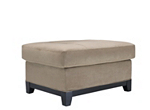 kathy ireland Home Wellsley Microfiber Cocktail Ottoman