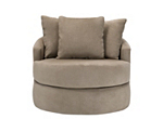 kathy ireland Home Wellsley Microfiber Swivel Chair