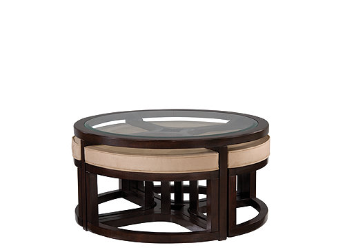 Juniper Glass Coffee Table And Ottomans Coffee Tables Raymour And