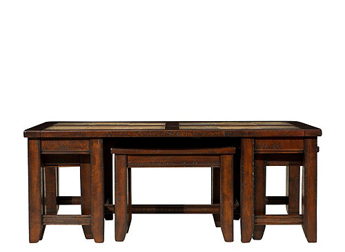 Raymour And Flanigan Rugs Portman Coffee Table w/ Stools | Coffee Tables | Raymour ...