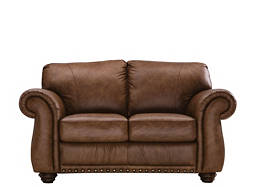 Elba Leather Loveseat