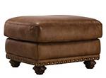 Elba Leather Ottoman