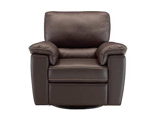 Cindy Crawford Maglie Leather Swivel Rocker Recliner : Recliners : Raymour and Flanigan Furniture