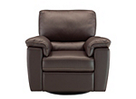 Cindy Crawford Maglie Leather Swivel Rocker Recliner