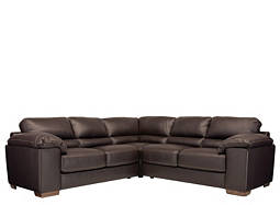 Cindy Crawford Maglie 3-pc. Leather Sectional Sofa
