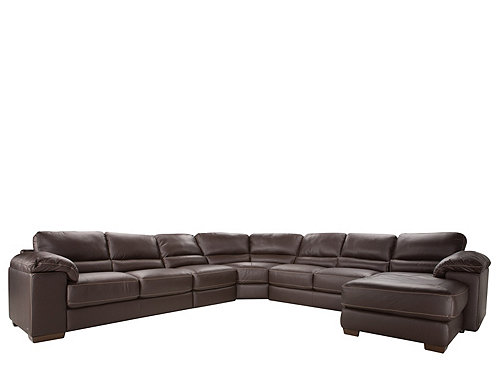Cindy Crawford Maglie 5 Pc Leather Sectional Sofa