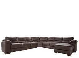 Cindy Crawford Maglie 5-pc. Leather Sectional Sofa