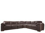 Cindy Crawford Maglie 4-pc. Leather Sectional Sofa