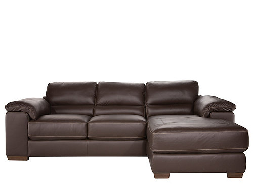 Cindy Crawford Maglie 2-pc. Leather Sectional Sofa : Sectional Sofas : Raymour and Flanigan ...