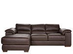 Cindy Crawford Maglie 2-pc. Leather Sectional Sofa