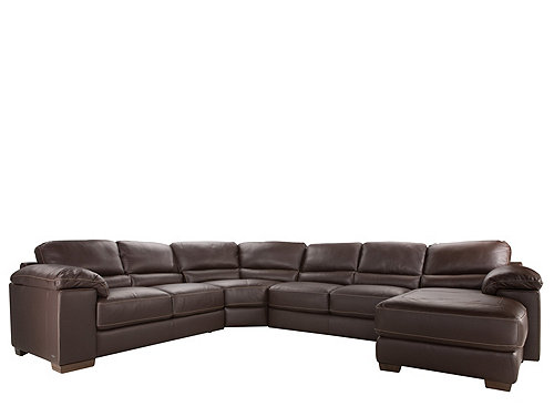Cindy Crawford Maglie 4 Pc. Leather Sectional Sofa : Sectional Sofas :  Raymour And