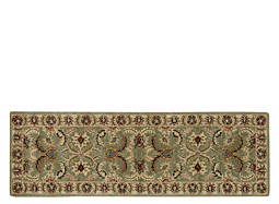 "India House 2'3"" x 7'6"" Green Runner Rug"