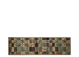 "Expressions 2' x 5'9"" Brown Geometric Runner Rug"