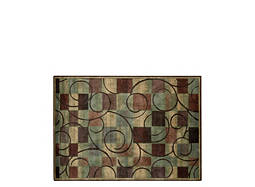 "Expressions 5'3"" x 7'5"" Brown Geometric Area Rug"