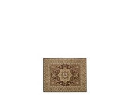"India House 2'6"" x 4' Chocolate Area Rug"