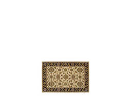 "India House 2'6"" x 4' Beige & Black Area Rug"