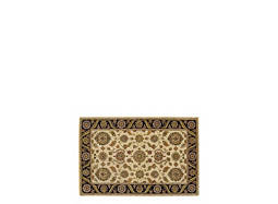 "India House 3'6"" x 5'6"" Beige & Black Area Rug"