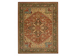 "Living Treasures 9'9"" x 13'9"" Rust Area Rug"