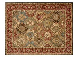 "Living Treasures 9'9"" x 13'9"" Multicolored Area Rug"