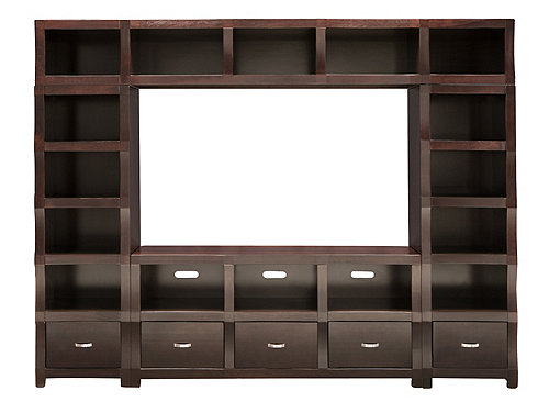 "Lakewood 4-pc. Wall Unit w/ 60"" TV Console 