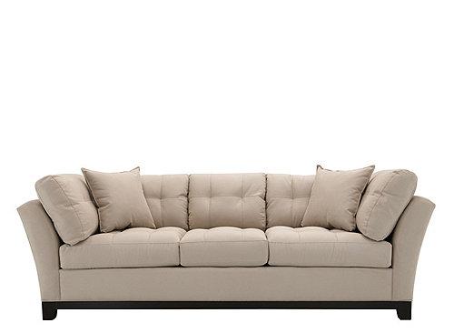 Cindy Crawford Metropolis Microfiber Sofa  Sofas  Raymour and ...