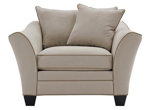 Briarwood Microfiber Chair Living Room Chairs Raymour
