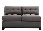 Cindy Crawford Home Metropolis Microfiber Armless Loveseat