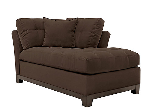 Cindy crawford home metropolis microfiber right arm facing for Brown microfiber chaise lounger