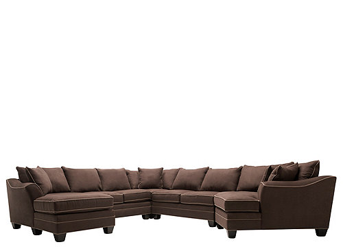 Foresthill 5 pc microfiber sectional sofa sectional for 5 pc microfiber sectional sofa