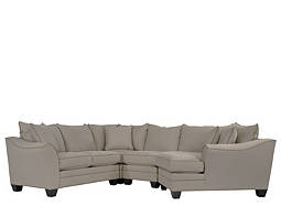 Foresthill 4-pc. Microfiber Sectional Sofa