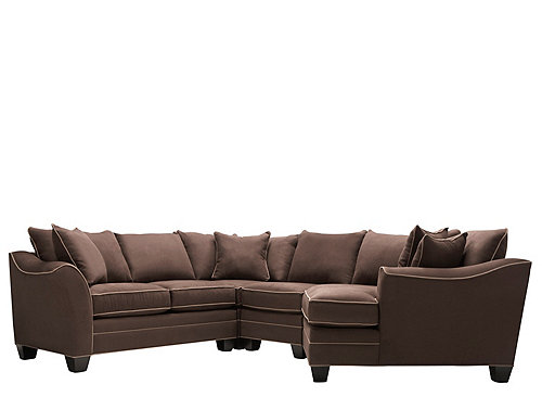 Foresthill 4 Pc Microfiber Sectional Sofa Sectional